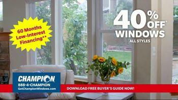 Champion Windows TV Spot, 'Struggling to Get Fresh Air: 40%' - Thumbnail 7