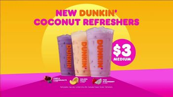 Dunkin' Coconut Refreshers TV Spot, 'Do What Feels Bright' - Thumbnail 7