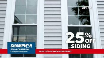 Champion Windows TV Spot, 'Transform Your Home and Upgrade Your Curb Appeal: 25%' - Thumbnail 2