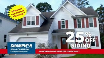 Champion Windows TV Spot, 'Transform Your Home and Upgrade Your Curb Appeal: 25%' - Thumbnail 6