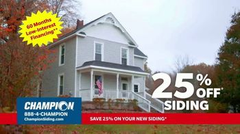 Champion Windows TV Spot, 'Transform Your Home and Upgrade Your Curb Appeal: 25%' - Thumbnail 7