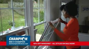 Champion Windows TV Spot, 'Time for New Windows: 40%' - Thumbnail 2