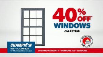 Champion Windows TV Spot, 'Time for New Windows: 40%' - Thumbnail 4