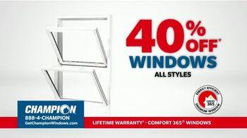 Champion Windows TV Spot, 'Time for New Windows: 40%' - Thumbnail 5