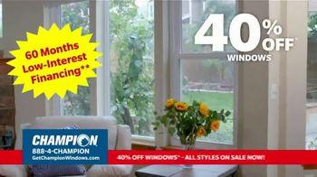 Champion Windows TV Spot, 'Time for New Windows: 40%' - Thumbnail 7
