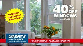 Champion Windows TV Spot, 'Time for New Windows: 40%' - Thumbnail 8
