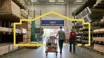 Lowe's TV Spot, 'Home for Pros' - Thumbnail 6