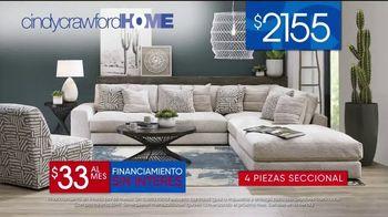 Rooms to Go Venta de 30 Aniversario TV Spot, 'Cindy Crawford Home Cuatro-Piezas Seccional' [Spanish] - Thumbnail 5