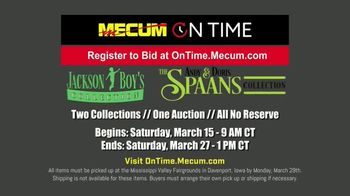 Mecum On Time TV Spot, 'Jackson Boy's Collection and The Andy & Doris Spaans Collection' - Thumbnail 5