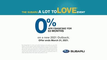 Subaru A Lot to Love Event TV Spot, 'Adventurous Heart' [T2] - Thumbnail 9