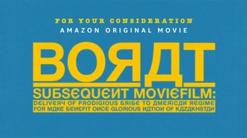 Amazon Prime Video TV Spot, 'Borat Subsequent Moviefilm: For Your Consideration' - Thumbnail 10