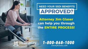 Jim Glaser Law TV Spot, 'Social Security Disability Claims Approved'