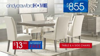 Rooms to Go 30th Anniversary Sale TV Spot, 'Cindy Crawford Home San Francisco Dining Room: $855' Song by Junior Senior - Thumbnail 8