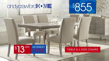 Rooms to Go 30th Anniversary Sale TV Spot, 'Cindy Crawford Home San Francisco Dining Room: $855' Song by Junior Senior - Thumbnail 9