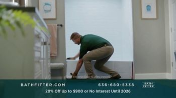 Bath Fitter TV Spot, 'Fits Your Schedule: 20% Off Up to $900 - Thumbnail 2