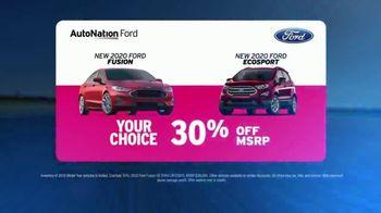 AutoNation Ford TV Spot, 'Go Time: 2020 Fusion and EcoSport' - Thumbnail 4