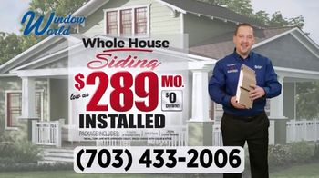 Window World TV Spot, 'Whole House Siding: $289'