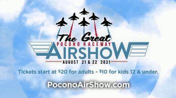 Pocono Raceway TV Spot, '2021 Great Pocono Raceway Airshow' - Thumbnail 8