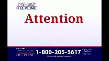 Zantac Helpline TV Spot, 'Cancer Compensation' - Thumbnail 1