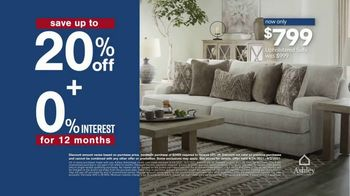 Ashley HomeStore Labor Day Sale TV Spot, 'Save up to 20% off and 0% Interest' - Thumbnail 4