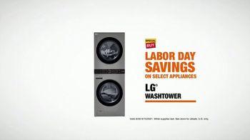 The Home Depot Labor Day Savings TV Spot, 'In Here: LG Washtower' - Thumbnail 7