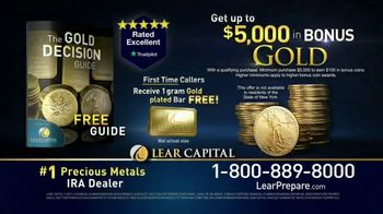 Lear Capital TV Spot, 'Peace of Mind During Financial Chaos: Free One Gram Gold Plated Bar' - Thumbnail 9