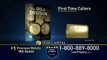 Lear Capital TV Spot, 'Peace of Mind During Financial Chaos: Free One Gram Gold Plated Bar' - Thumbnail 7