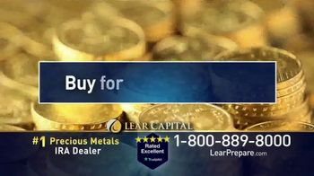 Lear Capital TV Spot, 'Peace of Mind During Financial Chaos: Free One Gram Gold Plated Bar' - Thumbnail 8
