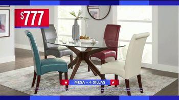 Rooms to Go Venta por el Día del Trabajo TV Spot, 'Juegos de comedor' [Spanish] - Thumbnail 3