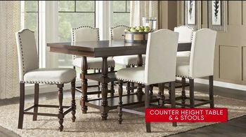 Rooms to Go 30th Anniversary Sale TV Spot, 'Upholstered Counter Height Table and Stools' Song by Junior Senior - Thumbnail 4