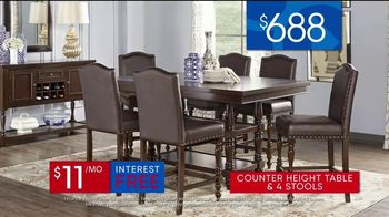 Rooms to Go 30th Anniversary Sale TV Spot, 'Upholstered Counter Height Table and Stools' Song by Junior Senior - Thumbnail 5
