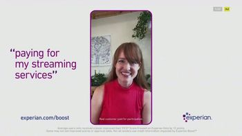 Experian Boost TV Spot, \'Now Paying for Streaming Services Can Help Raise Your Credit Scores\'