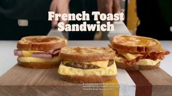 Burger King French Toast Sandwiches TV Spot, 'Made for a King' - Thumbnail 5