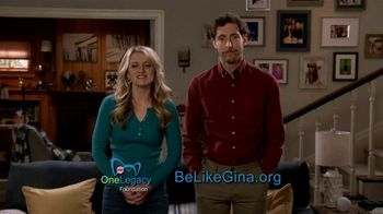 Be Like Gina TV Spot, 'Stories of Living Kidney Donors' Ft. Thomas Middleditch, Annaleigh Ashford - Thumbnail 9