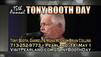 City of Pearland TV Spot, '15ht Annual Tony Booth Day'