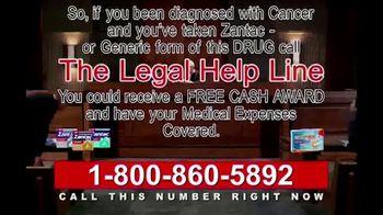 Legal Help Line TV Spot, 'Cancer: Ranitidine'