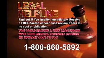 Legal Help Line TV Spot, 'Cancer: Ranitidine' - Thumbnail 5
