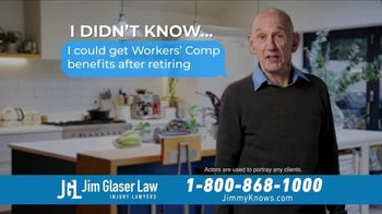 Jim Glaser Law TV Spot, 'Workers' Comp: After Retiring' - Thumbnail 2