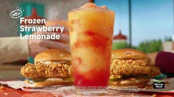Popeyes Frozen Strawberry Lemonade TV Spot, 'Summer Pairing' - Thumbnail 7
