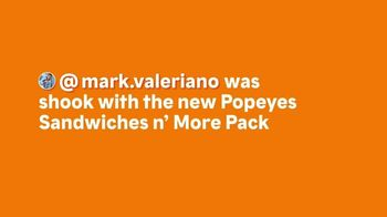 Popeyes Sandwiches n' More Pack TV Spot, 'Shook' - Thumbnail 2