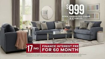Rooms to Go  Memorial Day Sale TV Spot, 'Save Big on Cozy Living Rooms: $999' - Thumbnail 5