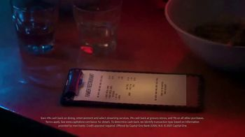 Capital One Savor Card TV Spot, 'Extra Butter' Song by The Cars - Thumbnail 8