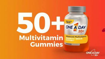 One A Day 50+ Multivitamin Gummies TV Spot, 'Immunity and Brain Support'