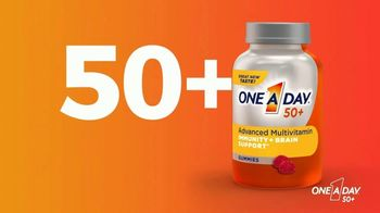 One A Day 50+ Multivitamin Gummies TV Spot, 'Immunity and Brain Support' - Thumbnail 2
