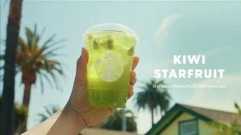 Starbucks Kiwi Starfruit Refresher TV Spot, 'Happy Place: Beach' Song by Julietta - Thumbnail 2
