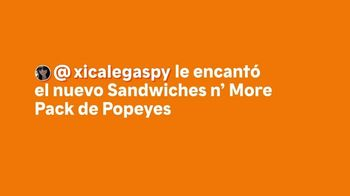 Popeyes Sandwiches n' More Pack TV Spot, 'Xicalegaspy' [Spanish] - Thumbnail 1