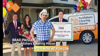 Publishers Clearing House TV Spot, 'One Day Left: $1,000 a Day' Featuring Brad Paisley - 106 commercial airings