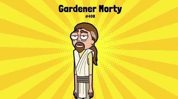 Pocket Mortys TV Spot, 'Wine Morty, Mr. Nimbus and Gardener Morty'
