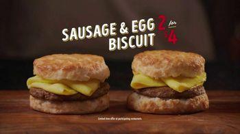 Bojangles Sausage & Egg Biscuit TV Spot, 'Bodacious: 2 for $4'