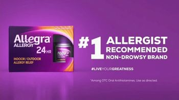 Allegra TV Spot, 'Allergens Won't Faze Me' - Thumbnail 1